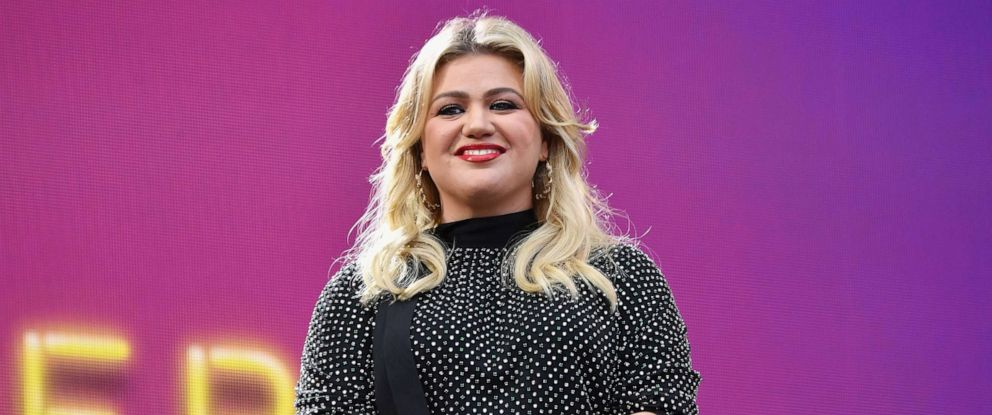 PHOTO: Singer and television presenter Kelly Clarkson speaks onstage at the 2019 Global Citizen Festival: Power The Movement in Central Park in New York, Sept. 28, 2019.