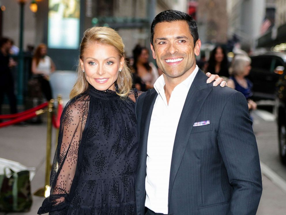 PHOTO: Kelly Ripa and Mark Consuelos are seen on June 17, 2019 in New York City.