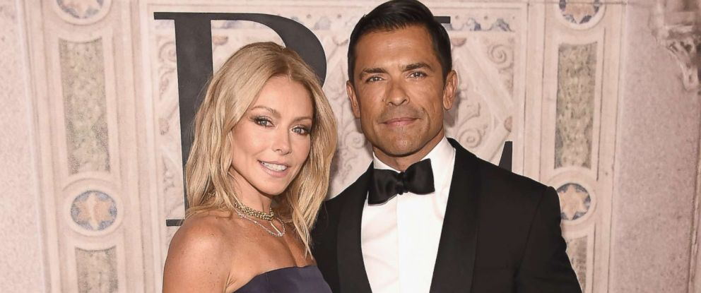 PHOTO: Kelly Ripa and Mark Consuelos attend the Ralph Lauren 50th Anniversary event during New York Fashion Week at Bethesda Terrace, Sept. 7, 2018, in New York.