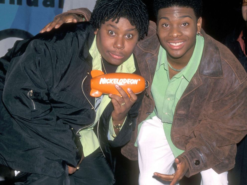 PHOTO: Kenan Thompson and Kel Mitchell attend the 11th Annual Nickelodeons Kids Choice Awards, April 4, 1998, in Westwood, Calif.