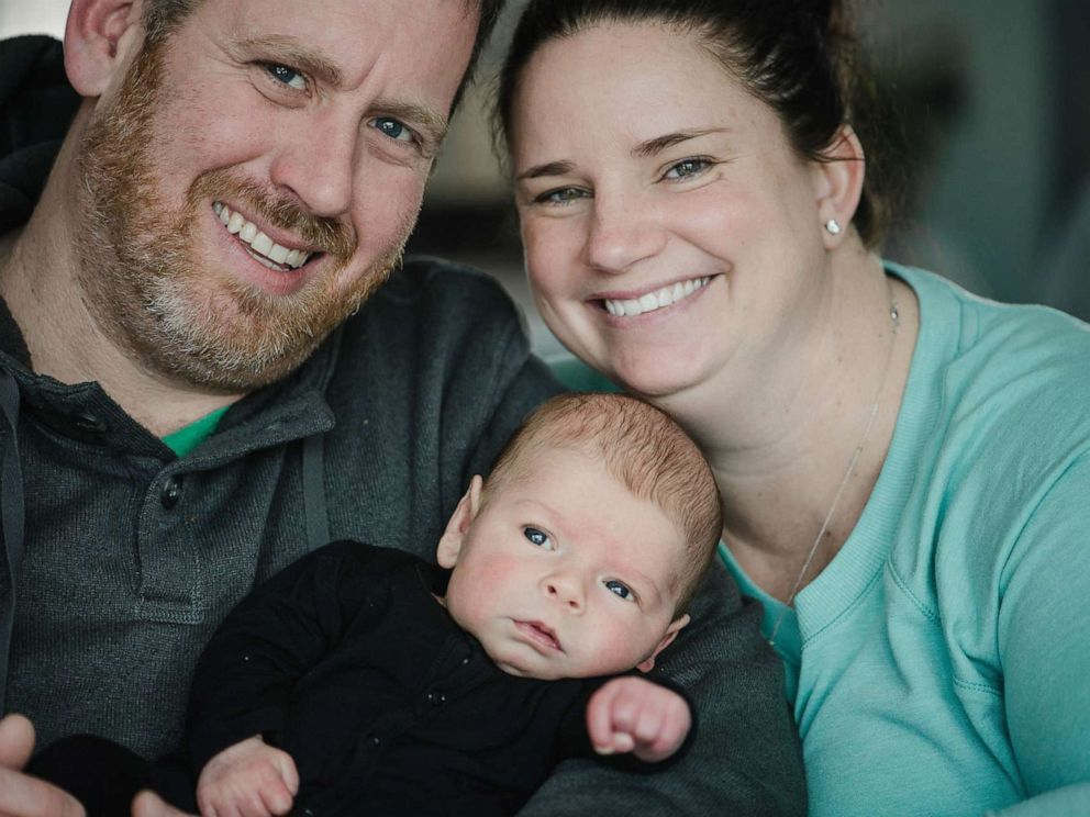 PHOTO: Kerri and Chris Morgan of Wappingers Falls, N.Y., are now proud parents after struggling with infertility. They are pictured here with their son, Brian Luke Morgan.