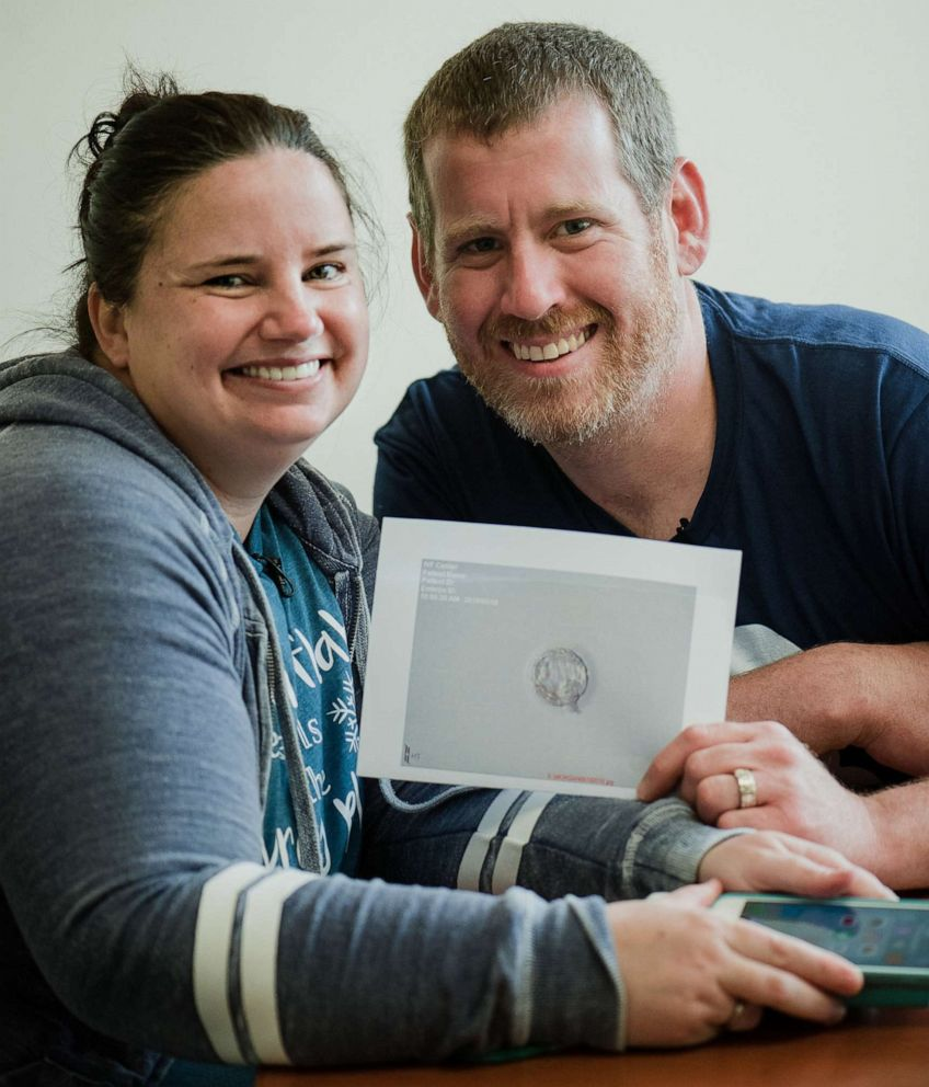 PHOTO: Kerri and Chris Morgan, of Wappingers Falls, N.Y., adopted two embryos through the National Registry for Adoption in their path to parenthood.