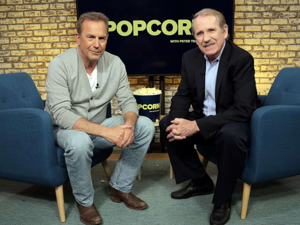 PHOTO: Kevin Costner appears on Popcorn with Peter Travers at ABC News studios, June 17, 2019, in New York.