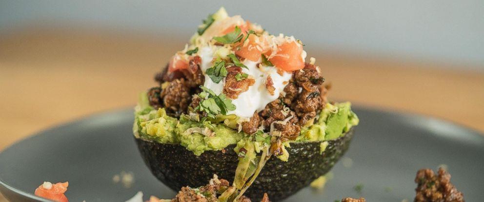 PHOTO: Kevin Currys avocado keto taco bowl.