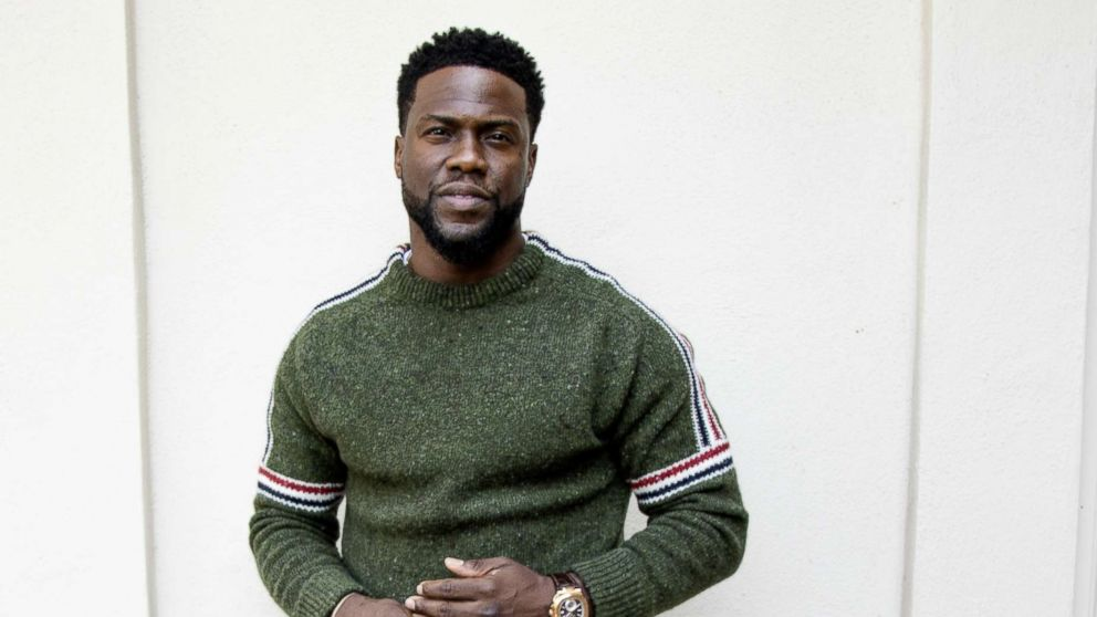 """Kevin Hart promotes the movie """"The Upside"""" in Hollywood, Oct. 30, 2018."""
