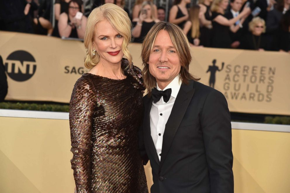 Nicole Kidman and Keith Urban attend the 24th Annual Screen Actors Guild Awards at The Shrine Auditorium, Jan. 21, 2018, in Los Angeles.
