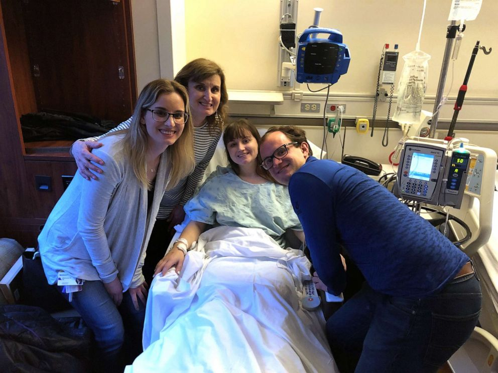 PHOTO: In this undated photo Hannah Goralski is pictured with her family before undergoing surgery to donate her kidney.