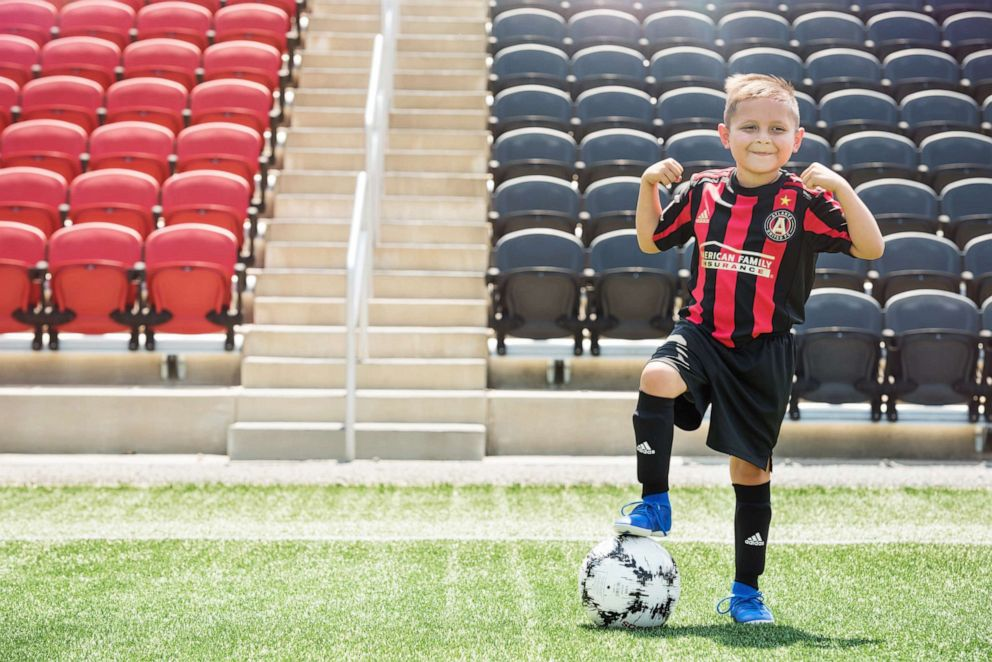 PHOTO: Andrew has acute lymphoblastic leukemia and wants to be a soccer player when he grows up.