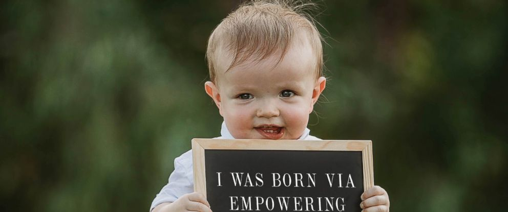 PHOTO: A child was photographed holding signs that were digitally altered to read how their parents were shamed.