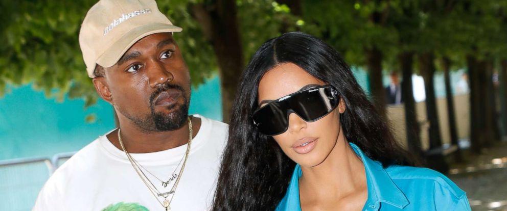 PHOTO: Kanye West and Kim Kardashian attend the Louis Vuitton Menswear Spring/Summer 2019 show as part of Paris Fashion Week, June 21, 2018, in Paris.