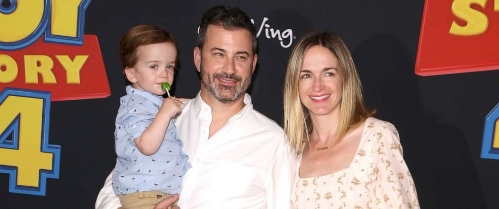 """PHOTO: William Kimmel, Jimmy Kimmel, Jane Kimmel, and Molly McNearney arrive to the Los Angeles premiere of Disney and Pixars """"Toy Story 4,"""" June 11, 2019 in Los Angeles."""