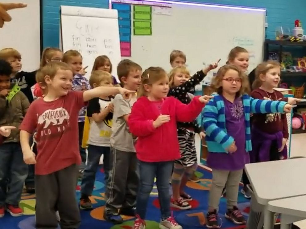 PHOTO: he kindergartners of Hickerson Elementary School in Tennessee, surprised custodian Mr. James Anthony with the unforgettable rendition of Happy Birthday.