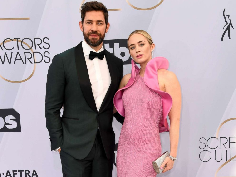 PHOTO: John Krasinski and Emily Blunt attend the 25th annual Screen ActorsGuild awards at the Shrine Auditorium, Jan. 27, 2019, in Los Angeles.