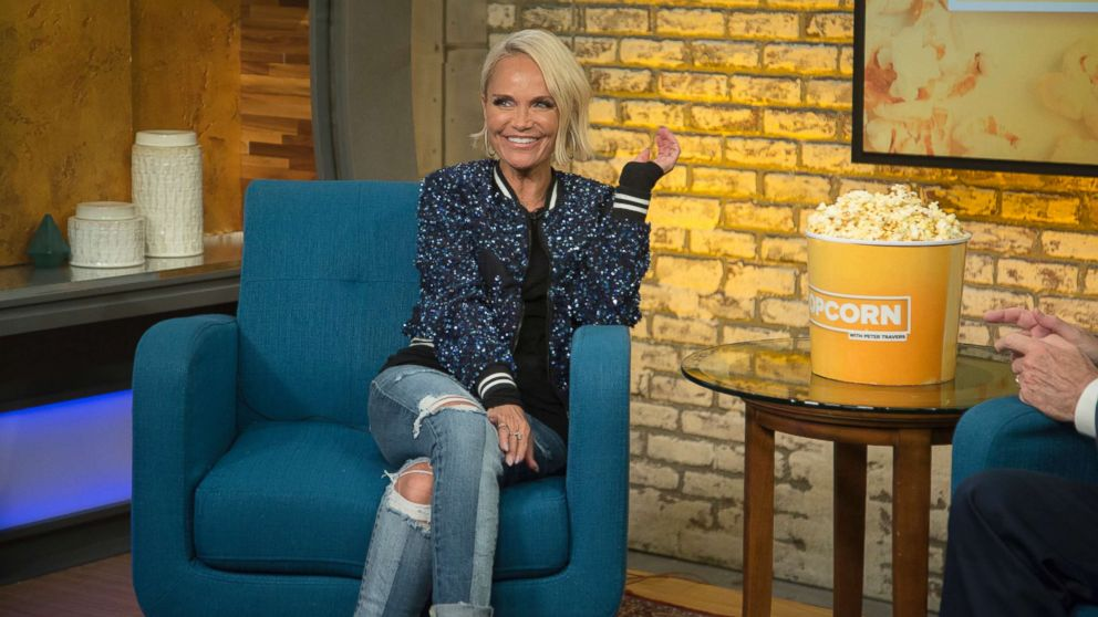 """Kristin Chenoweth appears on """"Popcorn with Peter Travers"""" at ABC News studios in New York City, July 17, 2018."""