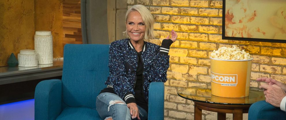 """PHOTO: Kristin Chenoweth appears on """"Popcorn with Peter Travers"""" at ABC News studios in New York City, July 17, 2018."""