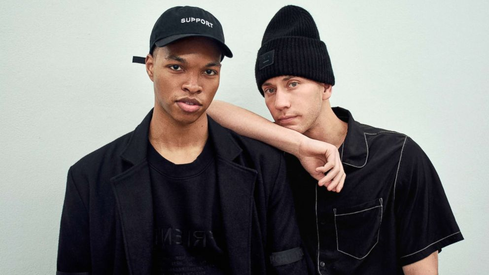 Samuel Krost, right, is the founder of fashion brand Krost, and Scott Camaran, left, is the label's creative director.