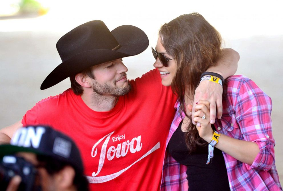 PHOTO: Ashton Kutcher and Mila Kunis attend an event on April 25, 2014, in Indio, Calif.