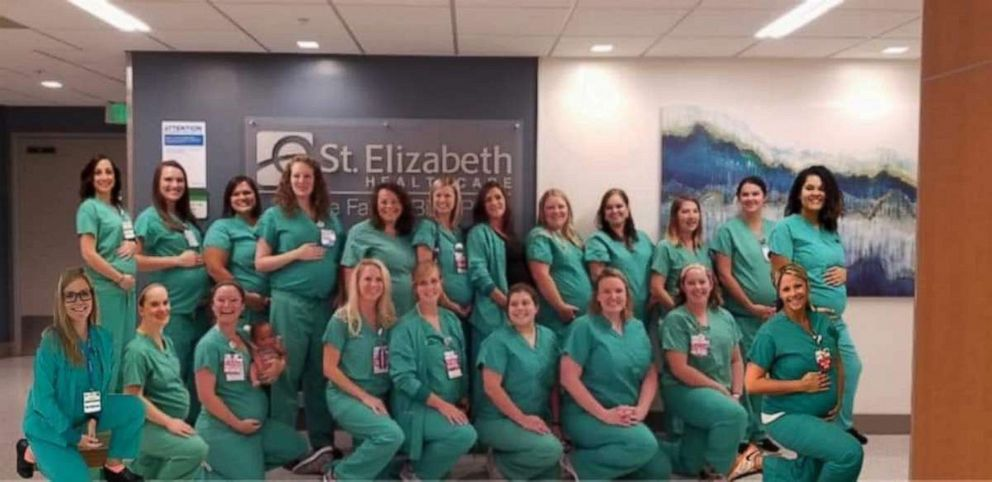 PHOTO: There must be something in water at St. Elizabeth's Healthcare in Kentucky, as 22 labor and delivery hospital staffers were all pregnant at the same time this year.