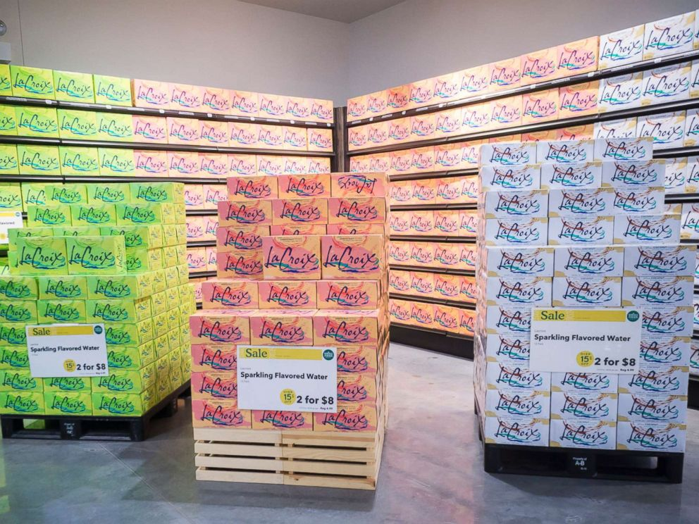 PHOTO: Display of La Croix sparkling beverages in the new Whole Foods Supermarket in the Brooklyn, N.Y., in this July 30, 2016 file photo.