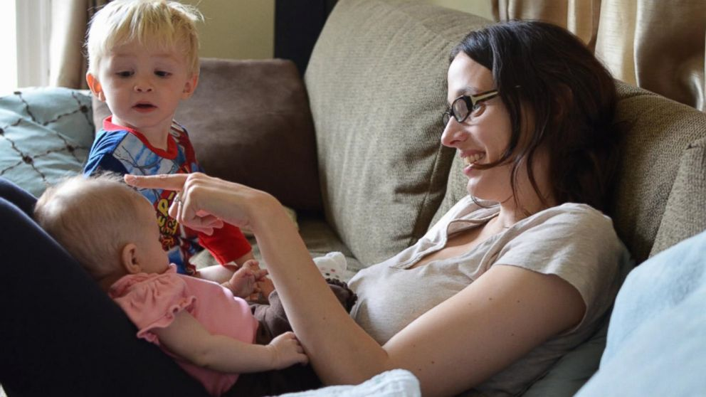 PHOTO: Dr. Stephanie Canale, founder of Lactation Lab, is pictured with her two children.