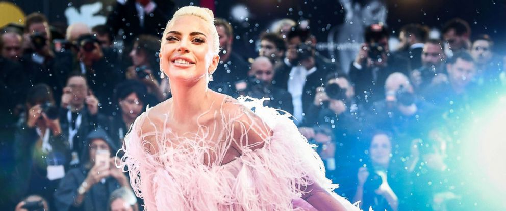 """PHOTO: Lady Gaga arrives for the premiere of the film """"A Star is Born"""" during the 75th Venice Film Festival on Aug. 31, 2018 in Venice, Italy."""