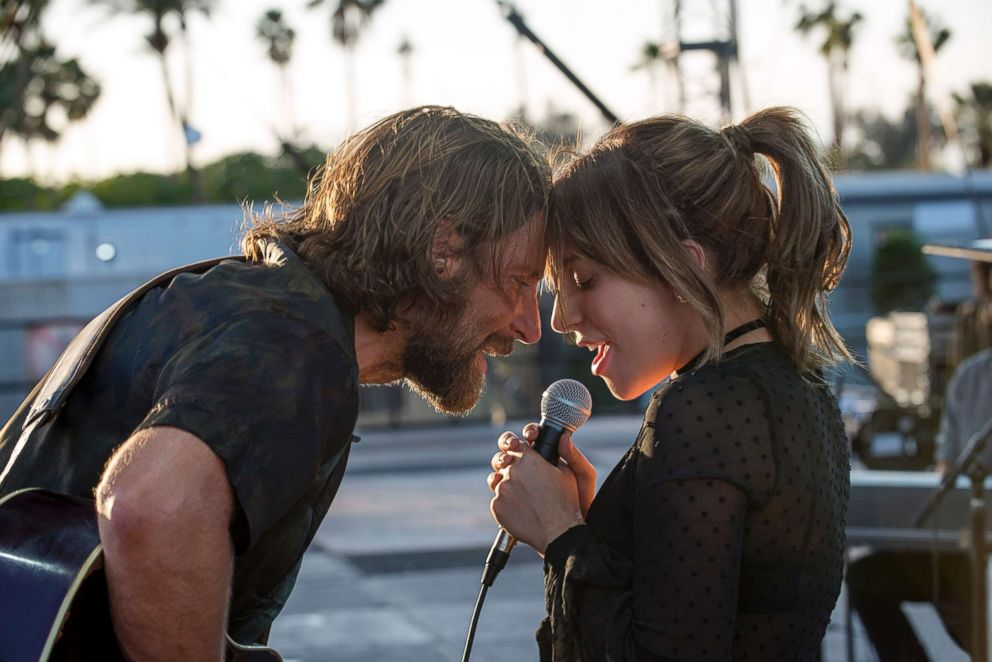 PHOTO: Bradley Cooper and Lady Gaga in the drama A Star is Born, from Warner Bros. Pictures.