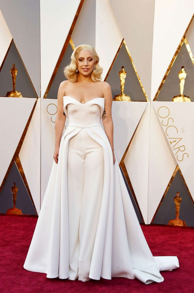 PHOTO: Recording artist Lady Gaga attends the 88th annual Academy Awards.