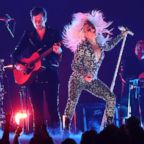 """Mark Ronson and Lady Gaga perform """"Shallow"""" at the 61st annual Grammy Awards, Feb. 10, 2019, in Los Angeles."""
