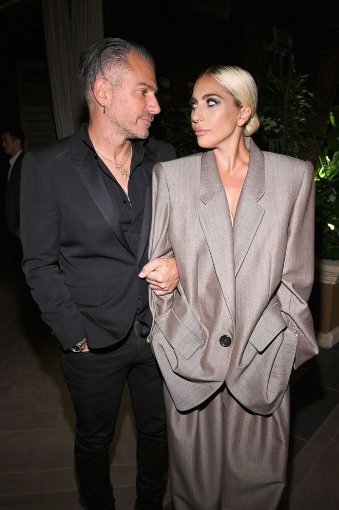 PHOTO: Christian Carino and Lady Gaga attend the 25th annual celebration of ELLEs Women in Hollywood at the Four Seasons Hotel Los Angeles in Beverly Hills, on October 15, 2018, in Los Angeles.