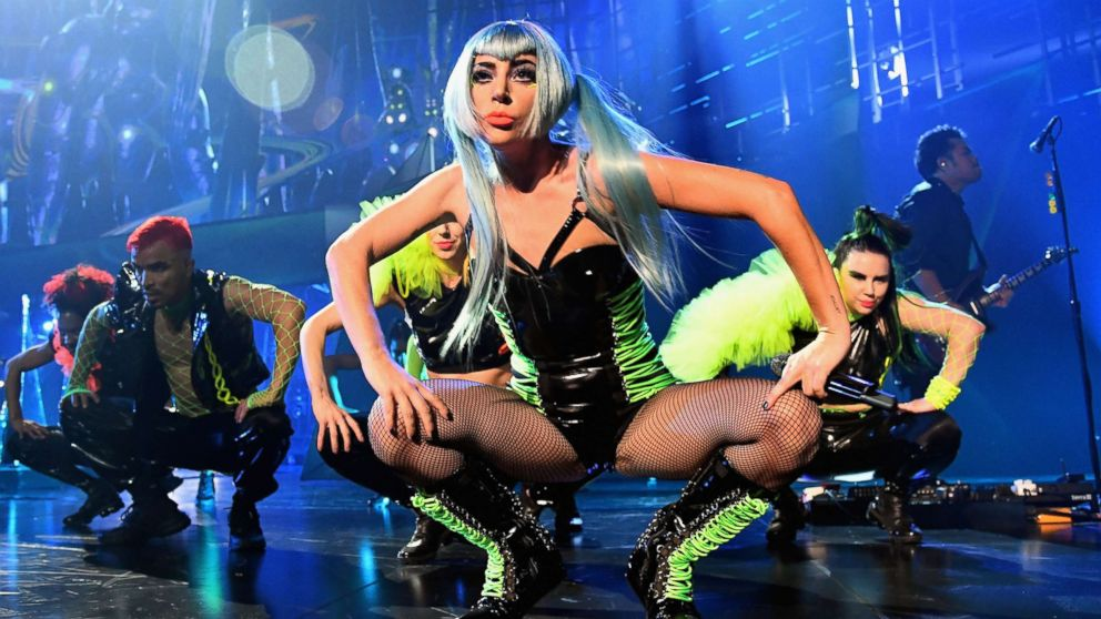 Lady Gaga performs during her 'ENIGMA' residency at Park Theater at Park MGM, Dec. 28, 2018 in Las Vegas.
