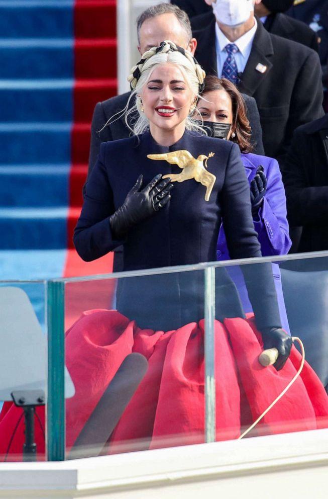 Lady Gaga stuns in custom couture for Biden-Harris inauguration - ABC News