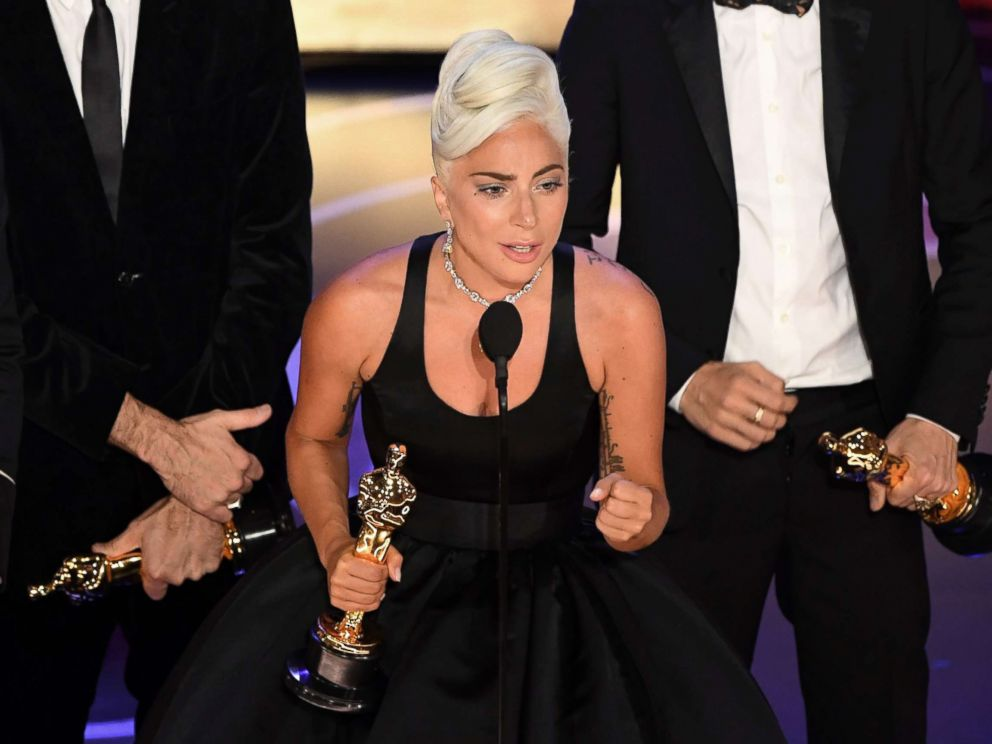 PHOTO: Lady Gaga accepts the award for best original song for Shallow from A Star is Born during the 91st Annual Academy Awards in Hollywood, Calif., Feb. 24, 2019.