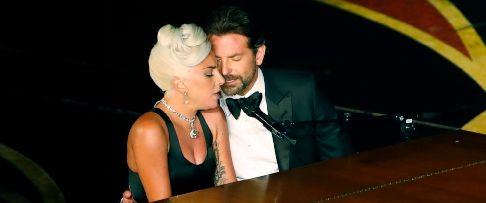 """PHOTO: In this February 24, 2019, file photo, Lady Gaga and Bradley Cooper perform """"Shallow"""" from """"A Star Is Born."""" at the 91st Academy Awards."""