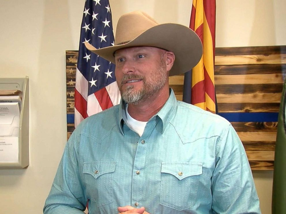 PHOTO: Pinal Country Sheriff Mark Lamb hails mother for daughters use of code word to thwart potential kidnapping.