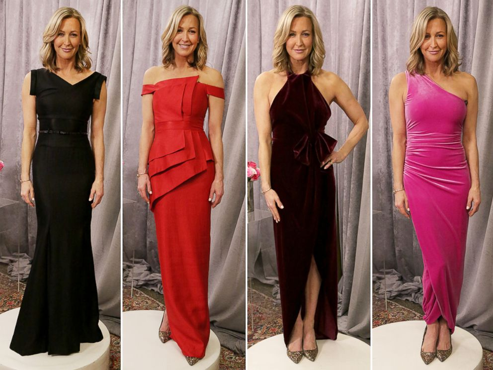 PHOTO: Lara Spencer is enlisting GMA viewers help in picking which gown she should wear to the Oscars.
