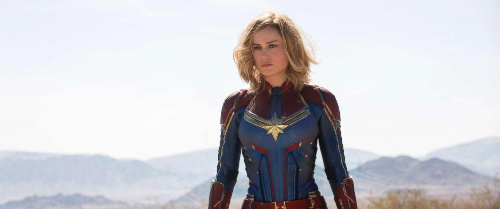 "PHOTO: Brie Larson plays Carol Danvers in the film, ""Captain Marvel."""