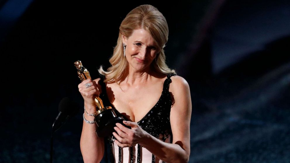 PHOTO: Laura Dern wins the Oscar for Best Supporting Actress in 'Marriage Story' at the 92nd Academy Awards in Hollywood, Calif., Feb. 9, 2020.
