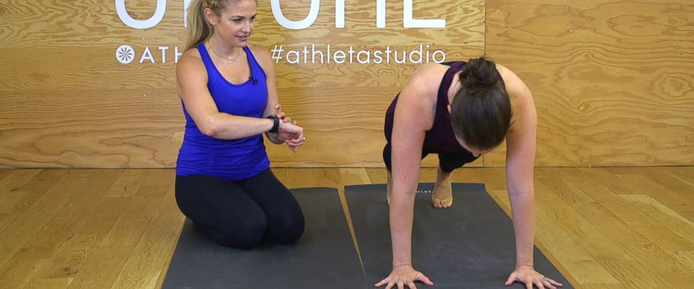 PHOTO: Heidi Kristoffer, the creator of CrossFlowX, trains 33-year-old Laura McGill.
