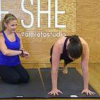 Heidi Kristoffer, the creator of CrossFlowX, trains 33-year-old Laura McGill.