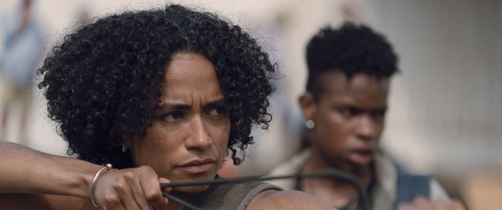 "PHOTO: Lauren Ridloff as Connie in a scene from ""The Walking Dead."""
