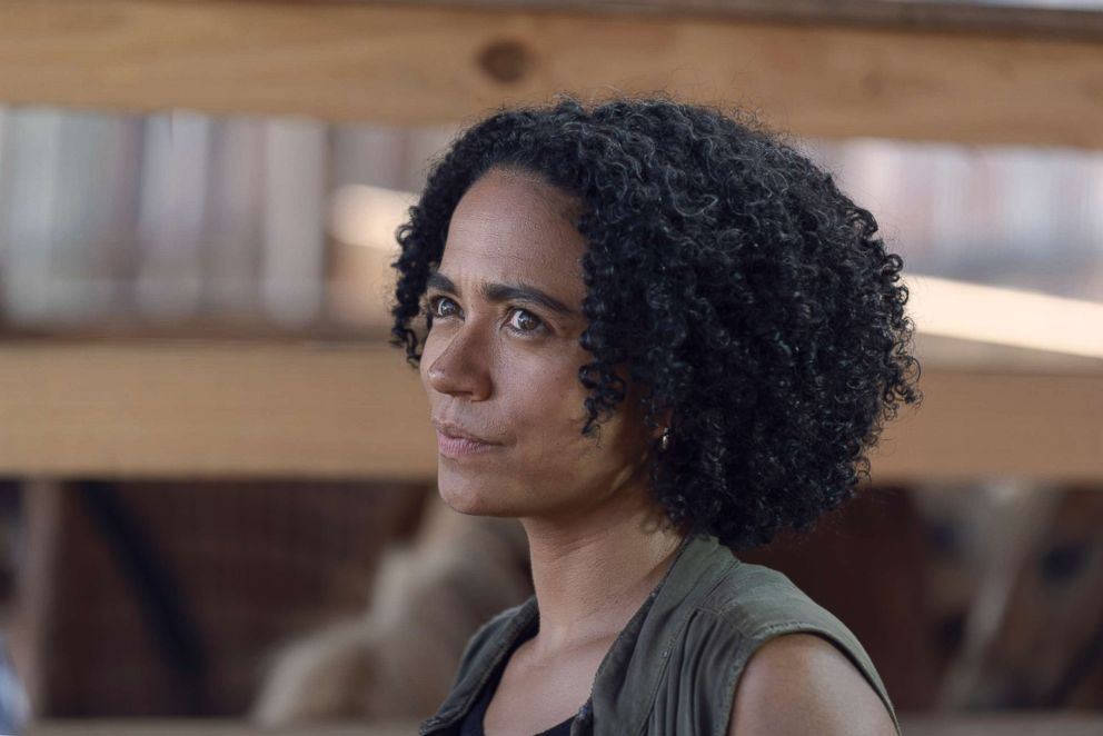 PHOTO: Lauren Ridloff as Connie in a scene from The Walking Dead.