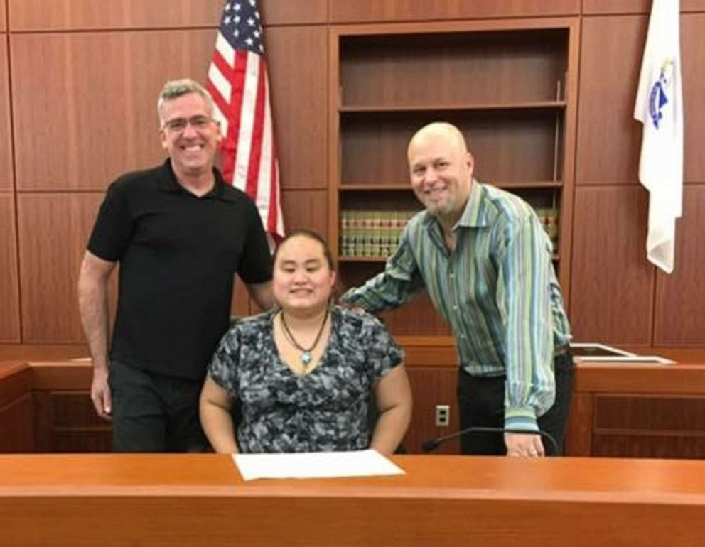 PHOTO: Jamie Darcangelo and Wil Darcangelo and their newly adopted daughter, Lavender Darcangelo, in 2015.