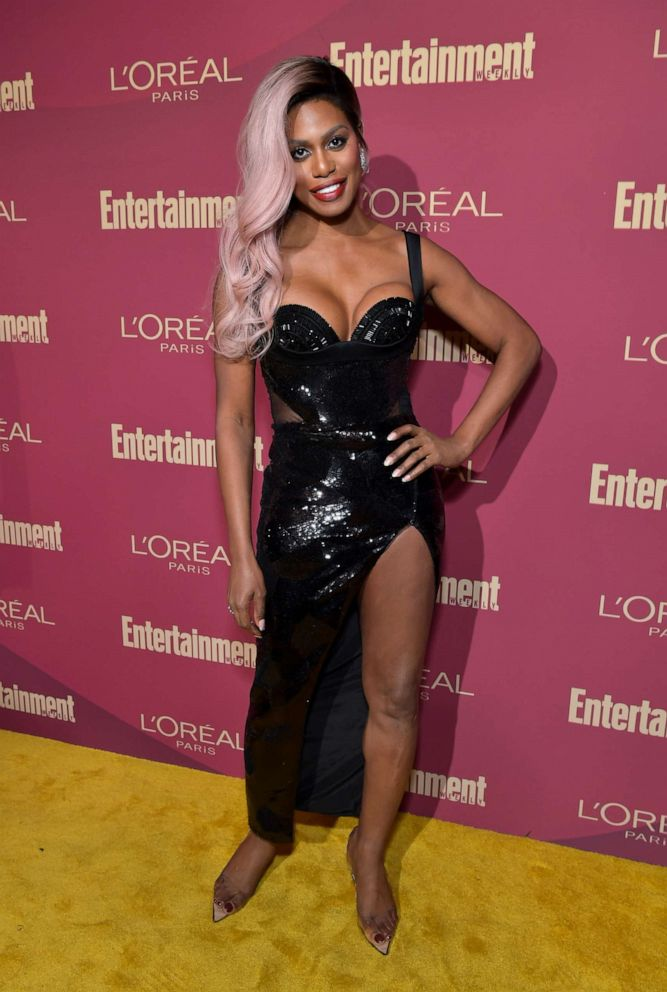 PHOTO: Laverne Cox attends the 2019 Pre-Emmy Party hosted by Entertainment Weekly and LOreal Paris at Sunset Tower Hotel in Los Angeles on Friday, September 20, 2019.