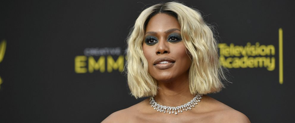 PHOTO: Laverne Cox arrives at night two of the Creative Arts Emmy Awards on Sept. 15, 2019, in Los Angeles.
