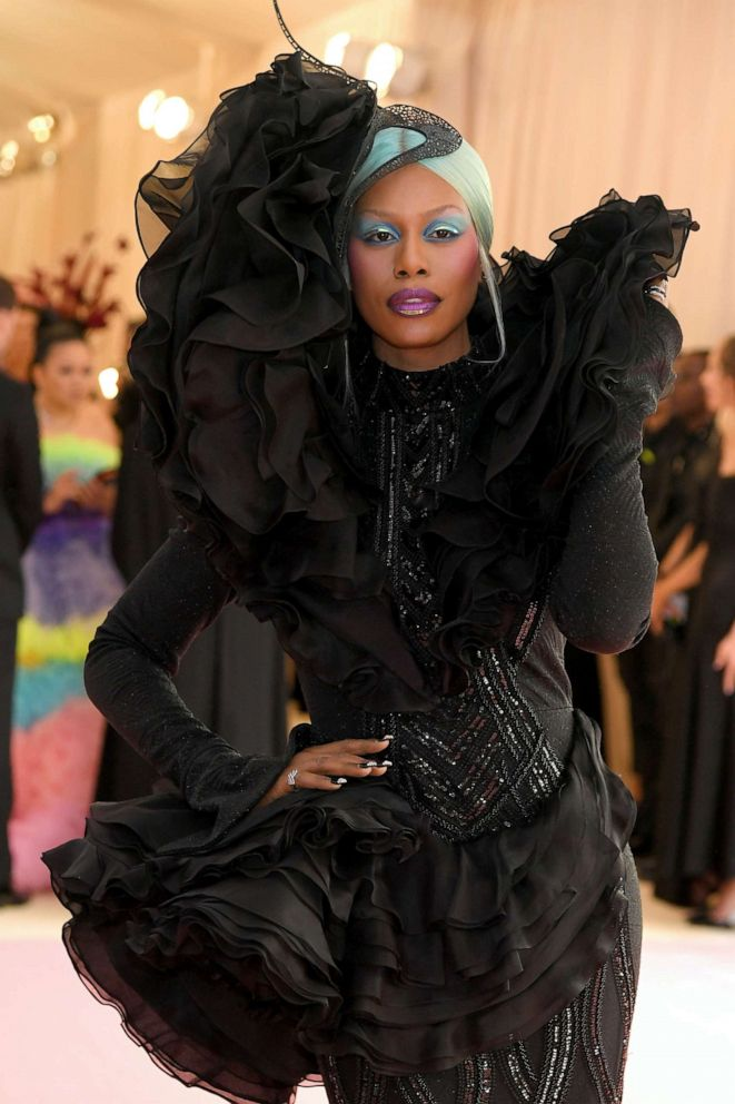 PHOTO: Laverne Cox attends the 2019 Met Gala Celebrating Camp: Notes on Fashion at the Metropolitan Museum of Art, May 6, 2019, in New York City.
