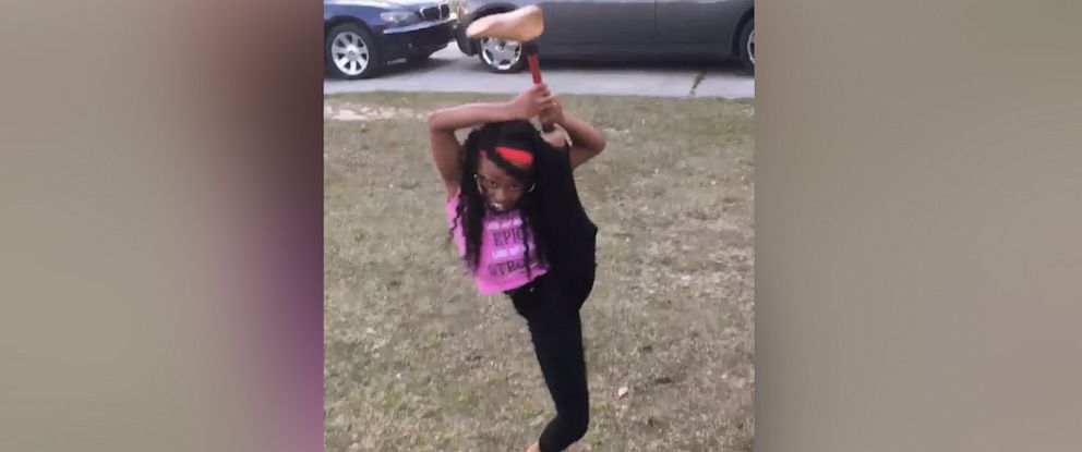 PHOTO: Jamiyah Robinson, 10, showed off her moves this month in a Facebook video recorded by her mom.
