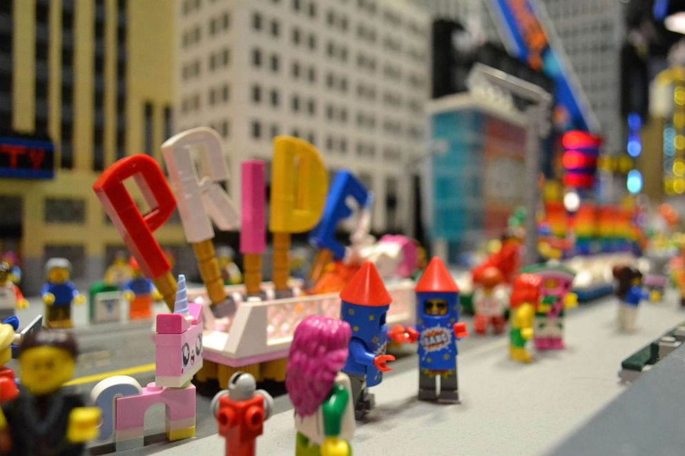 PHOTO: A Pride float made of LEGOs is shown in this undated photo.