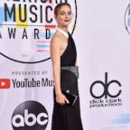 Leighton Meester attends the 2018 American Music Awards at Microsoft Theater, Oct. 9, 2018, in Los Angeles, Calif.