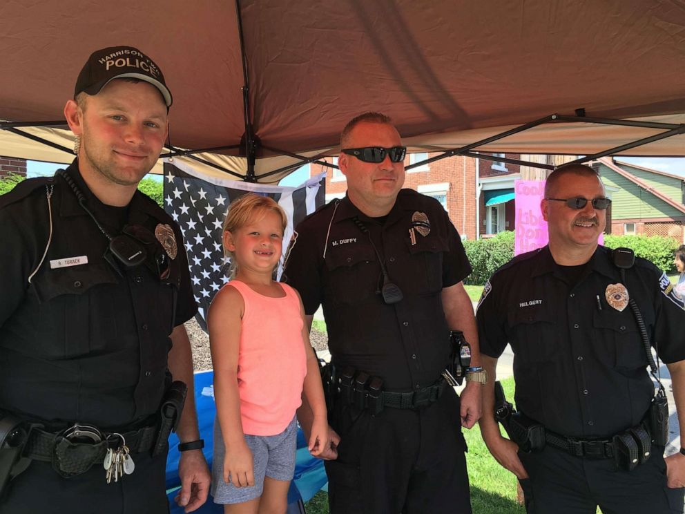 PHOTO: 6-year-old Kaley Bastine works to fundraise through lemonade stands so her local police can buy a K9.