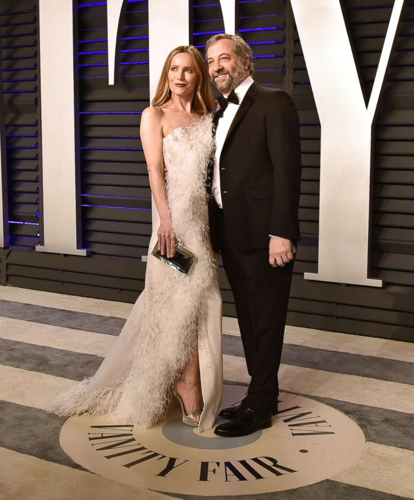 PHOTO: Leslie Mann and Judd Apatow attend the 2019 Vanity Fair Oscar Party hosted by Radhika Jones at Wallis Annenberg Center for the Performing Arts, Feb. 24, 2019, in Beverly Hills, Calif.